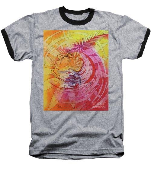 Baseball T-Shirt featuring the drawing Polynesian Warrior by Marat Essex