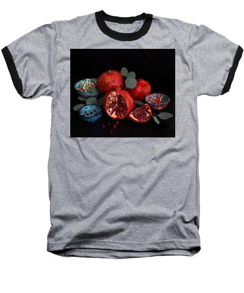 Pomegranate Power Baseball T-Shirt