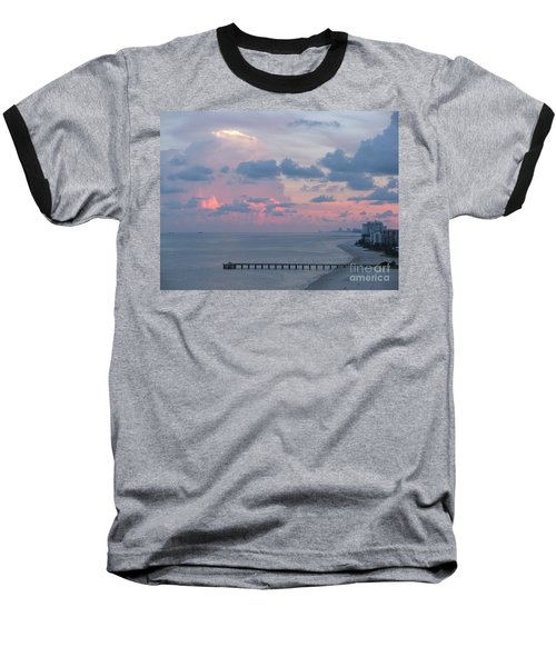 Pompano Pier At Sunset Baseball T-Shirt