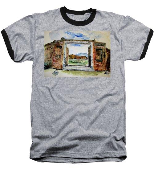 Pompeii Doorway Baseball T-Shirt by Clyde J Kell