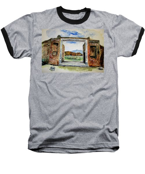 Pompeii Doorway Baseball T-Shirt