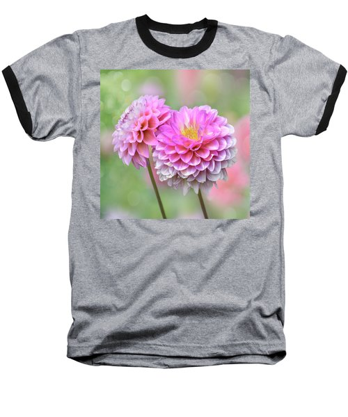 Baseball T-Shirt featuring the photograph Pompon Dahlias by John Poon