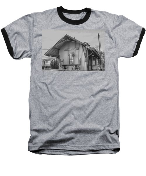 Pompton Plains Railroad Station And Baggage Cart Baseball T-Shirt