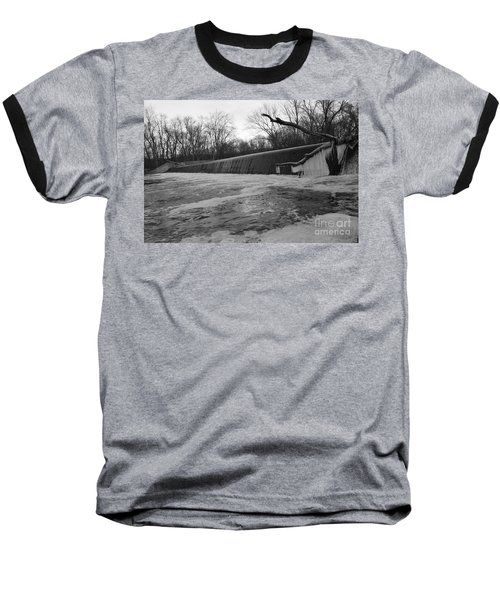 Falling Water On The Pompton Spillway In Winter Baseball T-Shirt