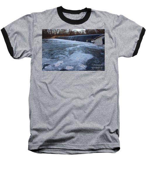 Pompton Spillway In Winter 2 Baseball T-Shirt