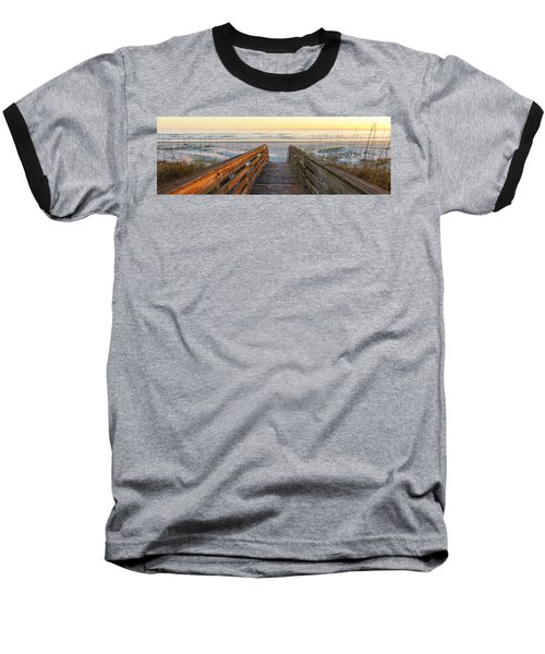 Ponce De Leon Inlet Beach Path Baseball T-Shirt