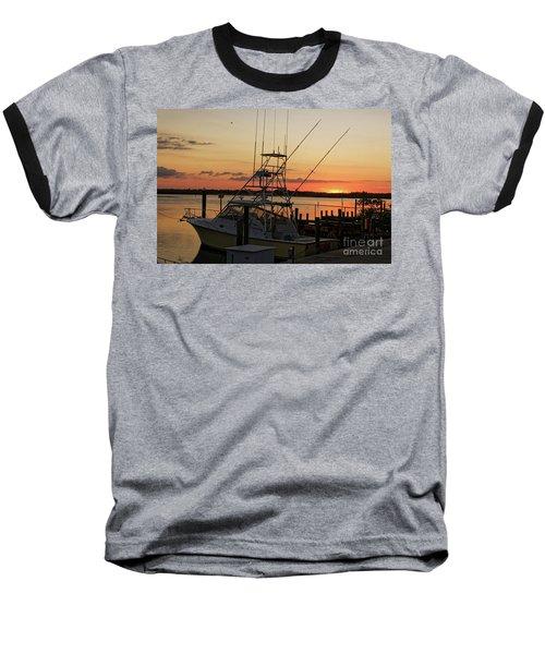 Ponce Inlet Sunset Baseball T-Shirt