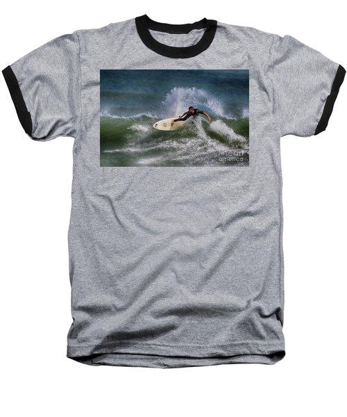 Baseball T-Shirt featuring the photograph Ponce Surfer 2017 by Deborah Benoit