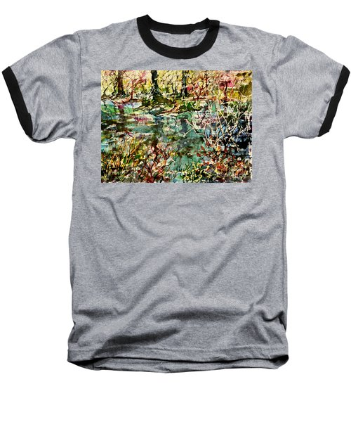 Baseball T-Shirt featuring the painting Pond And Beyond by Alfred Motzer