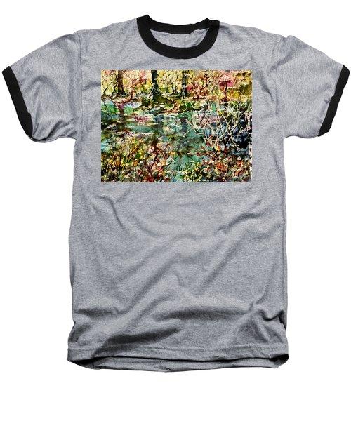 Pond And Beyond Baseball T-Shirt by Alfred Motzer