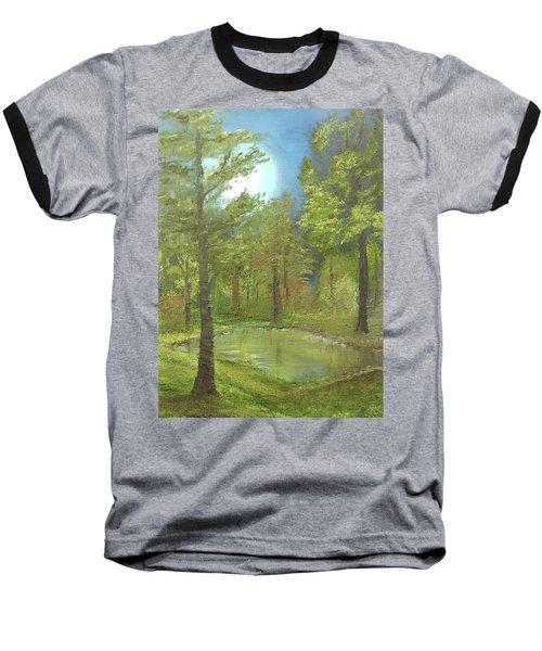 Pond Baseball T-Shirt by Angela Stout