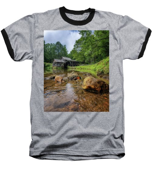 Pond At Mabry Mill Baseball T-Shirt