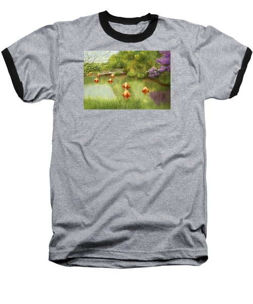 Pond At Olbrich Botanical Garden Baseball T-Shirt