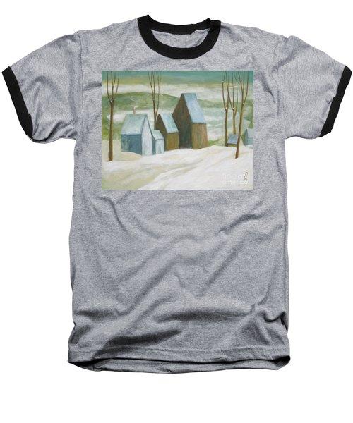 Pond Farm In Winter Baseball T-Shirt