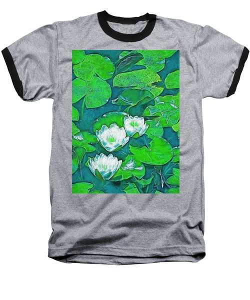 Baseball T-Shirt featuring the photograph Pond Lily 2 by Pamela Cooper