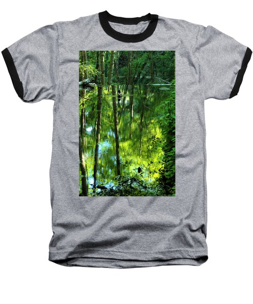 Pond On Gabrielino Trail Baseball T-Shirt