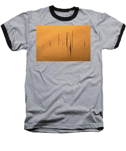 Pond Reeds In Reflected Sunrise Baseball T-Shirt