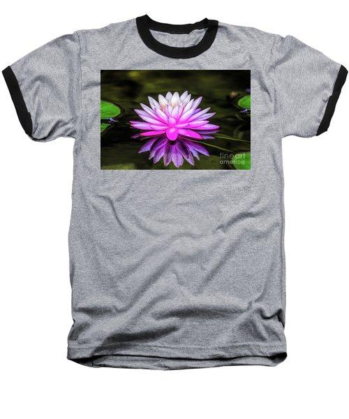 Pond Water Lily Baseball T-Shirt