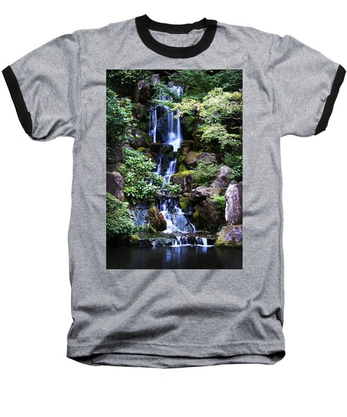 Pond Waterfall Baseball T-Shirt