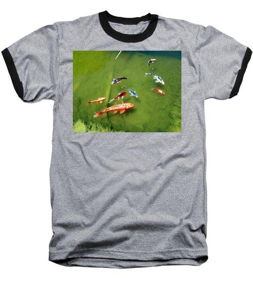 Pond With Koi Fish Baseball T-Shirt