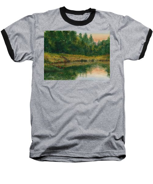 Pond With Spider Lilies Baseball T-Shirt