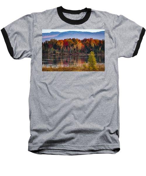 Pondicherry Fall Foliage Reflection Baseball T-Shirt