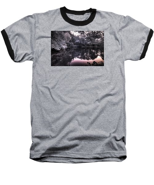 Baseball T-Shirt featuring the photograph Pondside Dusk by William Fields