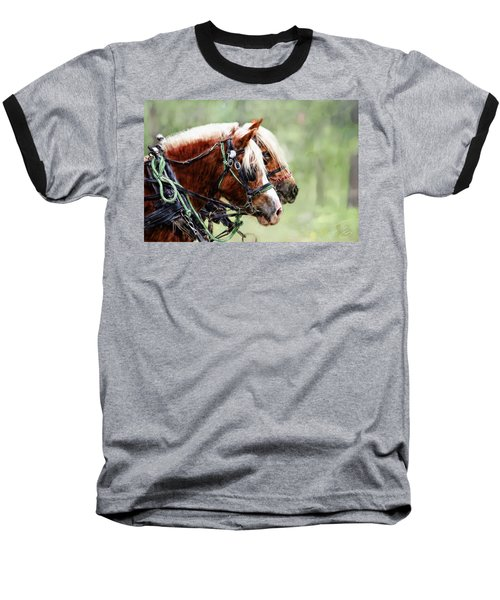 Ponies In Harness Baseball T-Shirt