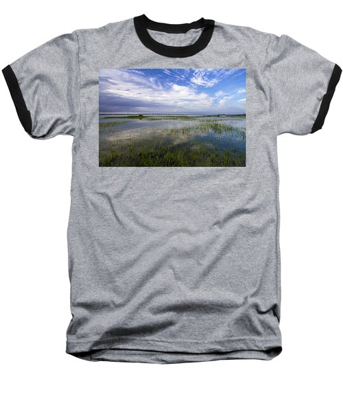 Ponquogue Bridge Springtime Baseball T-Shirt