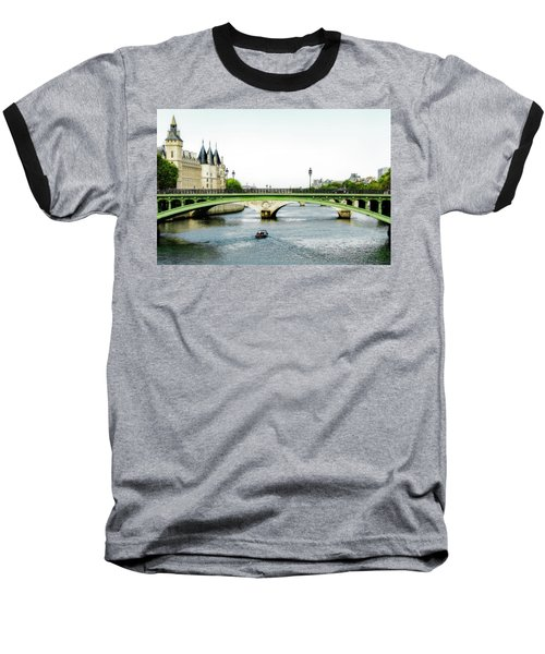Pont Au Change Over The Seine River In Paris Baseball T-Shirt
