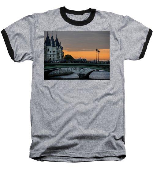 Pont Au Change Paris Sunset Baseball T-Shirt