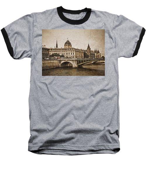 Paris, France - Pont Notre Dame Oldstyle Baseball T-Shirt