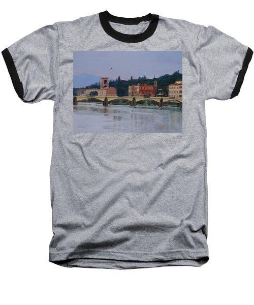 Ponte Vecchio Landscape Baseball T-Shirt