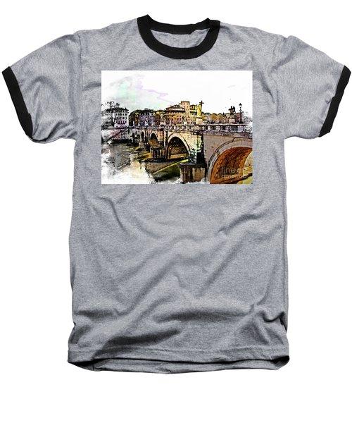Ponte San Angelo, Rome, Italy Baseball T-Shirt