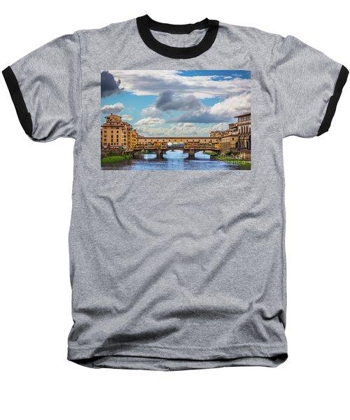Ponte Vecchio Clouds Baseball T-Shirt