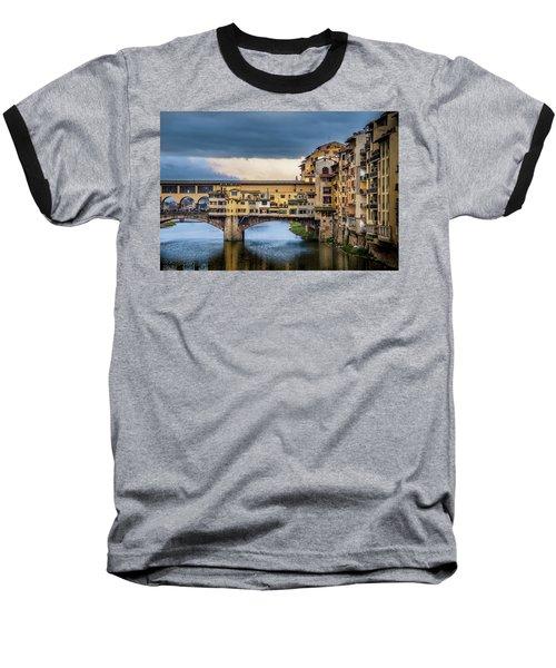 Ponte Vecchio E Gabbiani Baseball T-Shirt by Sonny Marcyan