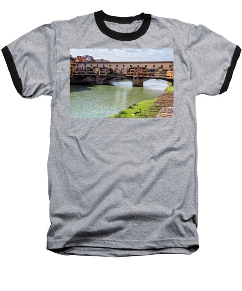 Baseball T-Shirt featuring the photograph Ponte Vecchio Florence Italy II by Joan Carroll