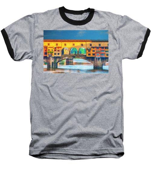 Ponte Vecchio Impression Baseball T-Shirt