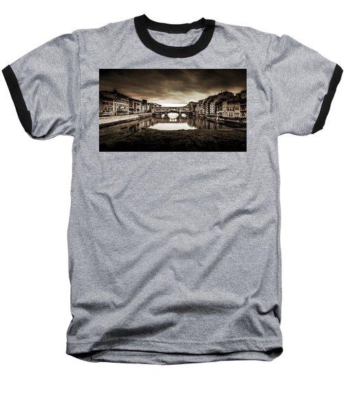 Ponte Vecchio In Sepia Baseball T-Shirt