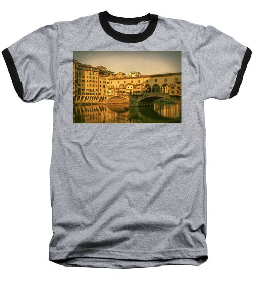 Baseball T-Shirt featuring the photograph Ponte Vecchio Morning Florence Italy by Joan Carroll