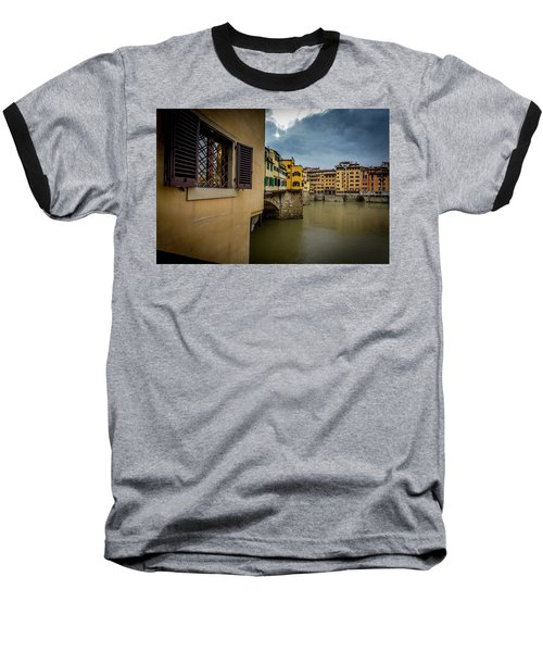 Baseball T-Shirt featuring the photograph Ponte Vecchio by Sonny Marcyan
