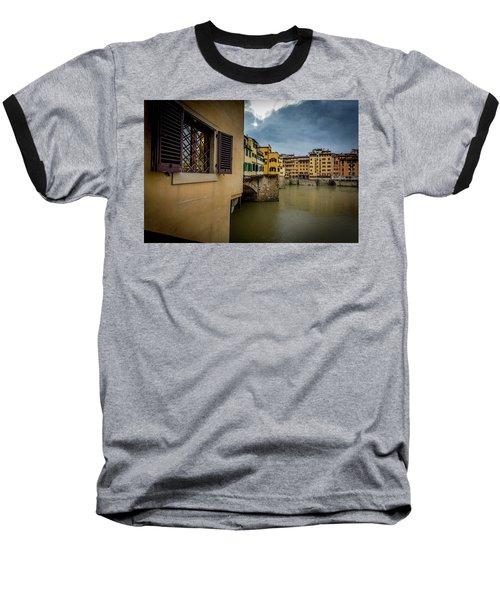 Ponte Vecchio Baseball T-Shirt by Sonny Marcyan