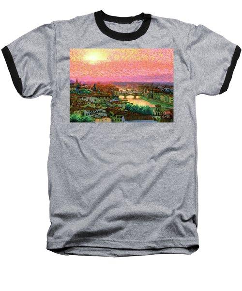 Ponte Vecchio Sunset Florence Baseball T-Shirt