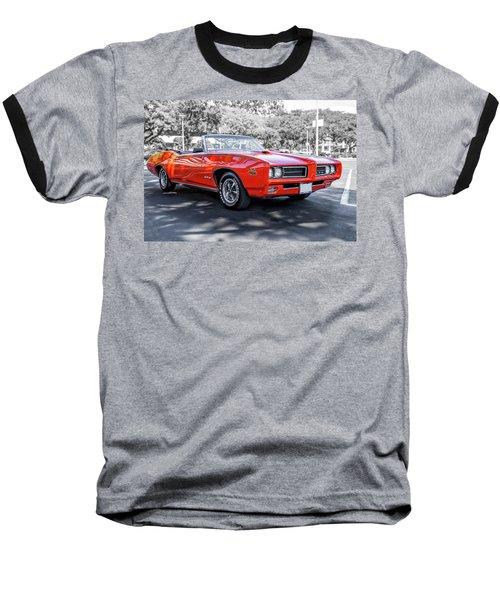 Pontiac G T O Judge Convertible Baseball T-Shirt