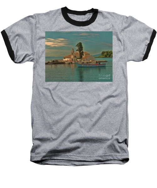 Pontikonisi Corfu Baseball T-Shirt