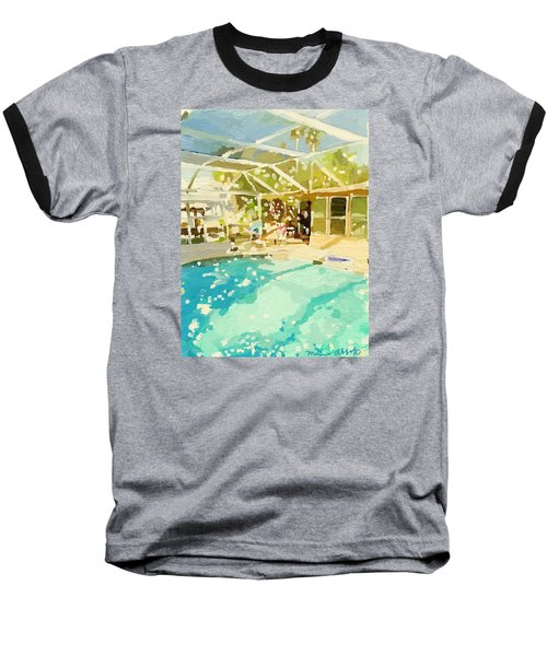 Pool And Screened Pool House Baseball T-Shirt