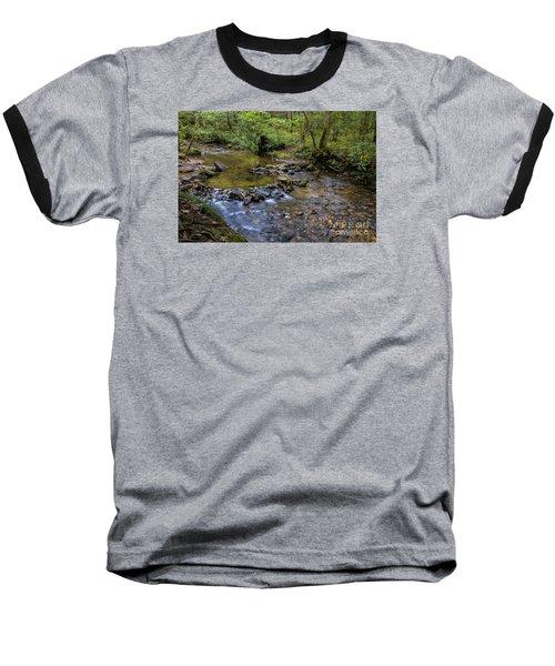 Pool At Cooper Creek Baseball T-Shirt by Barbara Bowen