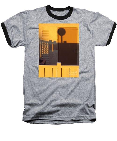 Pool House Shadow At Sunrise. Baseball T-Shirt