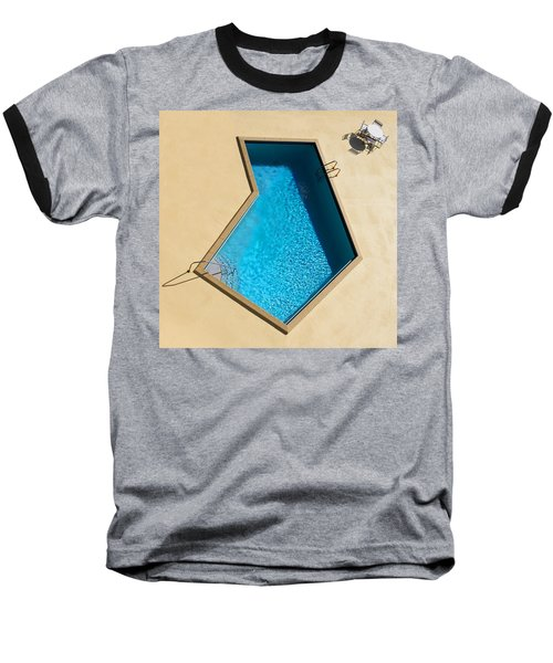 Baseball T-Shirt featuring the photograph Pool Modern by Laura Fasulo