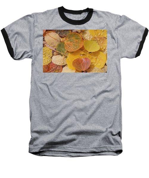 Pool With Aspen Leaves Baseball T-Shirt